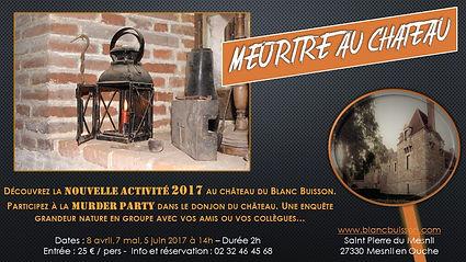 Murder party château