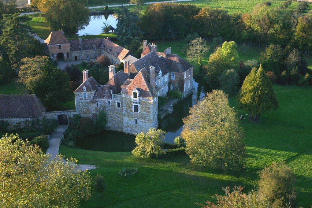 Château du Blanc Buisson vue du ciel