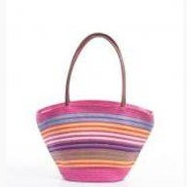 Multi-Color Straw Beach Shoulder Bags