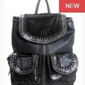 Black Cowhide Backpack