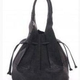 Leather Drawstring Bag/Matching Makeup Case