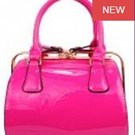 Pink Patent Leather Jelly Bag