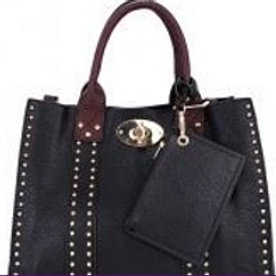 Share  Leather Stud Handbag