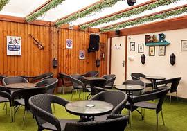 How about an Indoor outdoor beer garden_