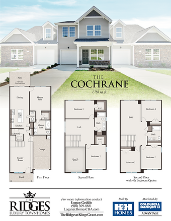The Cochrane elevation and floor plan OL