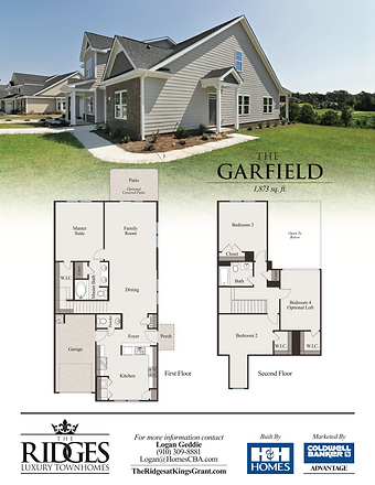 The Garfield elevation and floor plan OL