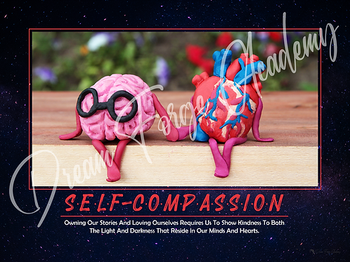 Self-Compassion Motivational Poster (Galaxy)