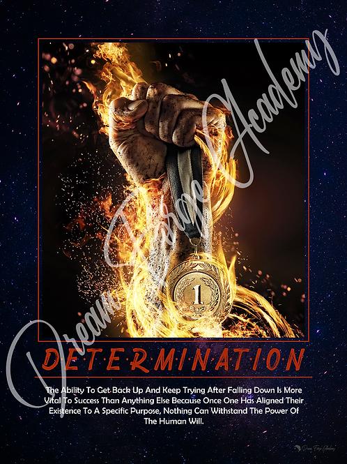 Determination Motivational Poster (Galaxy)