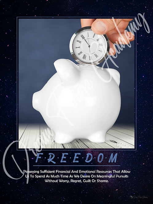 Freedom Motivational Poster (Galaxy)