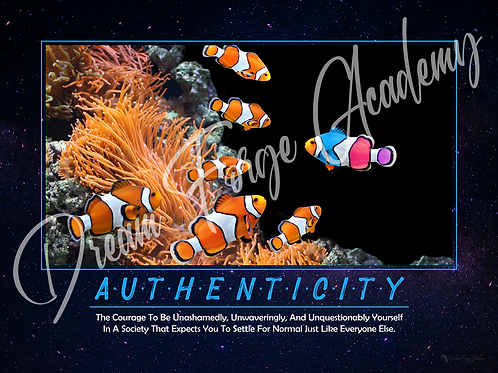 Authenticity Motivational Poster (Galaxy)