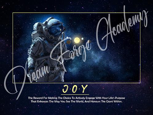 Joy Motivational Poster (Galaxy)