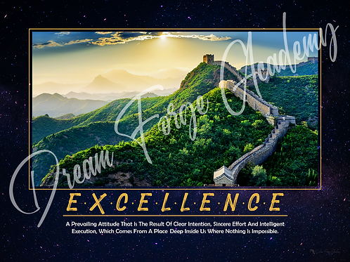 Excellence Motivational Poster (Galaxy)