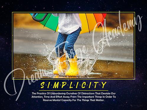 Simplicity Motivational Poster (Galaxy)