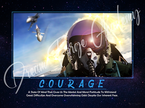 Courage Motivational Poster (Galaxy)