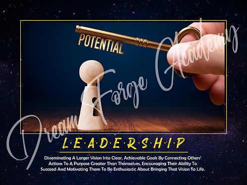 Leadership Motivational Poster (Galaxy)