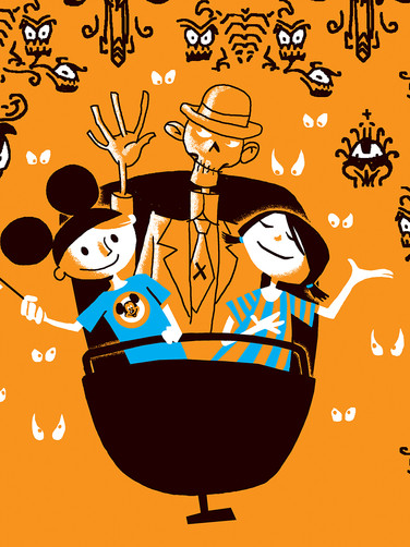 HAUNTED MANSION PRINT DETAIL 'A'