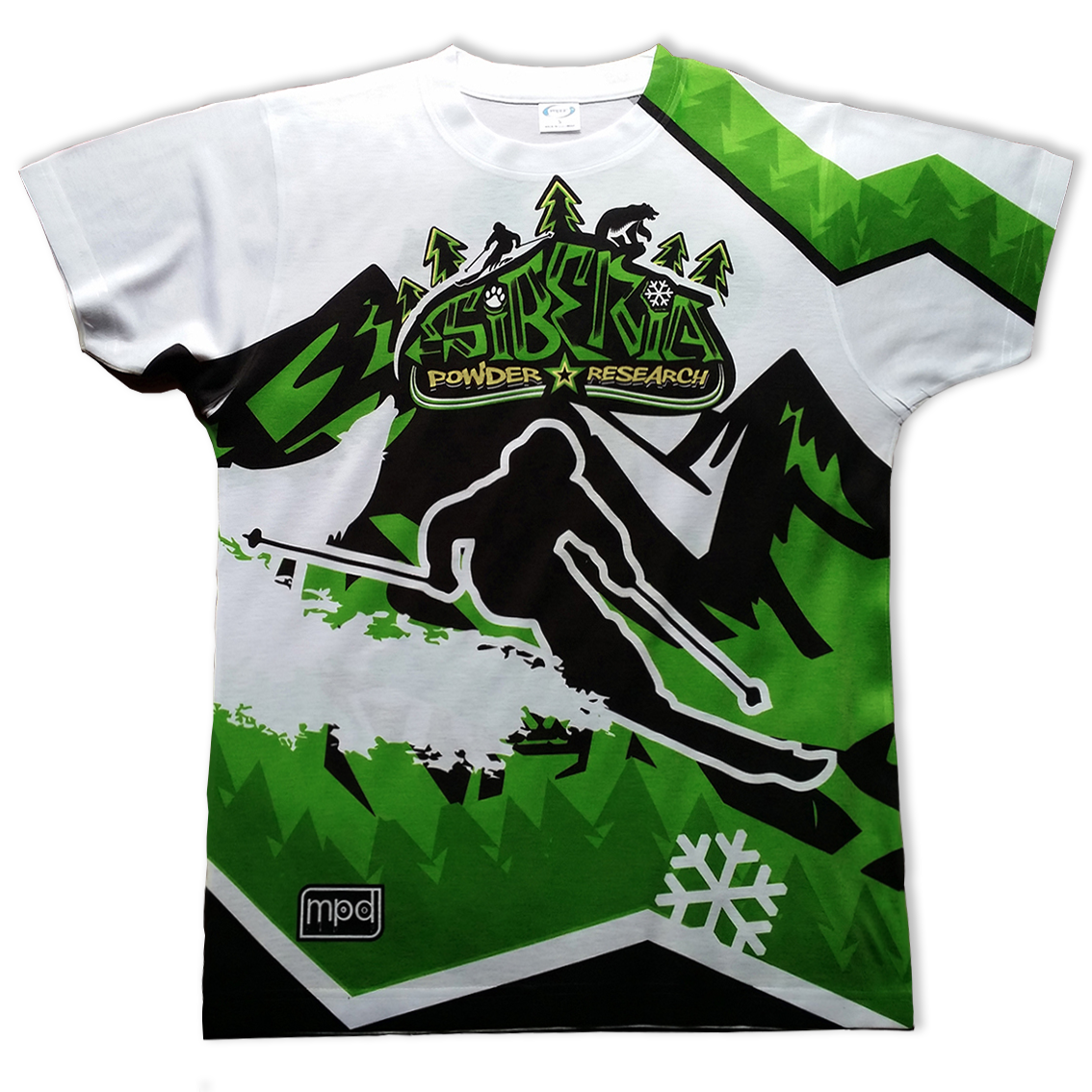All-over printed t-shirt snowboarding