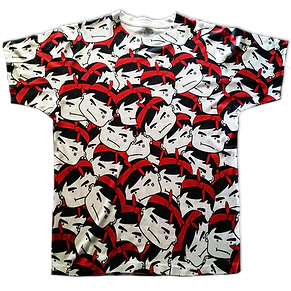 Custom all over printed t-shirt