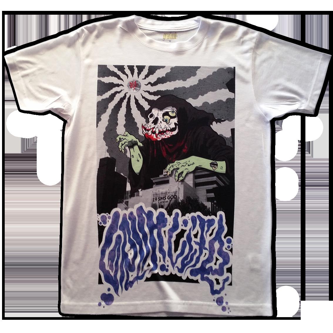 A3 print on Vapor basic t-shirt