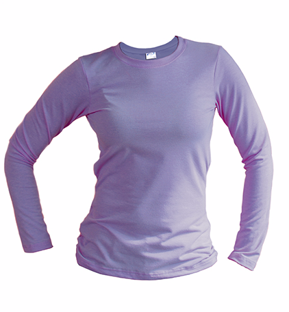 slim fit long sleeve orchid