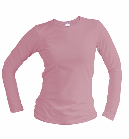 slim fit long sleeve pink