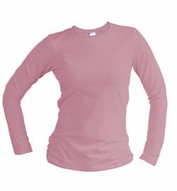 slim fit long sleeve pink