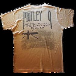 Allover print on white basic t-shirt