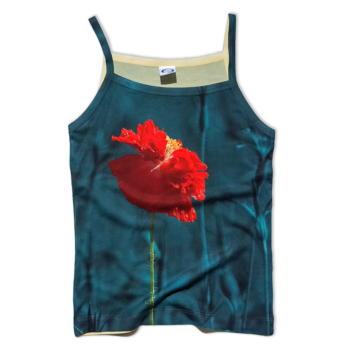 Poppy all over printed tank top