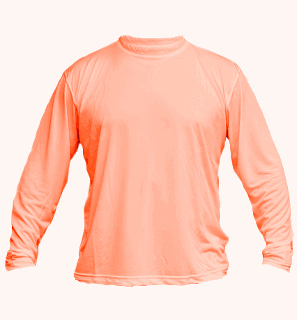 solar long sleeve salmon