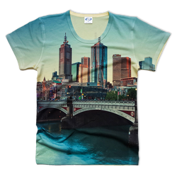 Melbourne view all over printed t-shirt