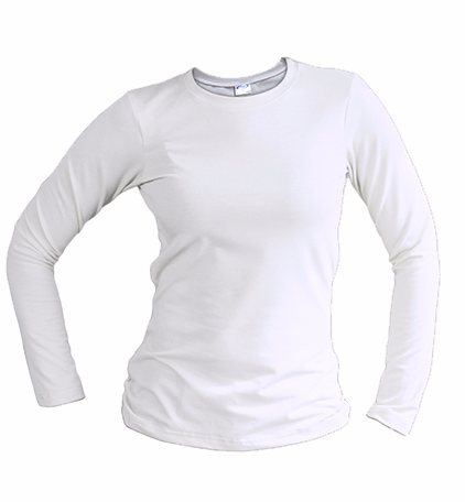 slim fit long sleeve white
