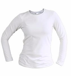 slim fit long sleeve white