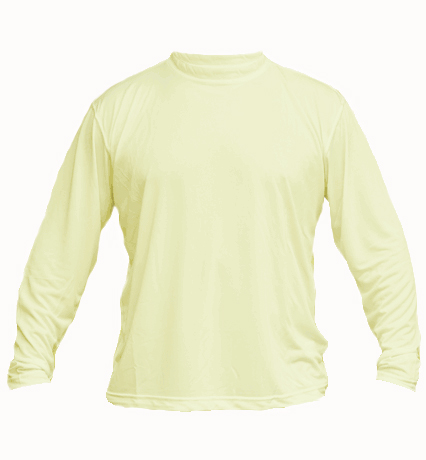 solar long sleeve pale yellow