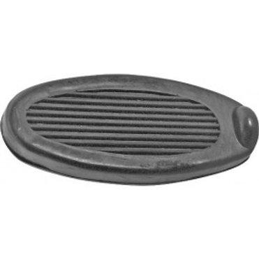 Brake & Clutch Pedal Pad Set - Black Rubber A18422