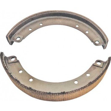 Brake Shoe Set - New With Woven Linings - 4 Pieces - Front & Rear A2021W