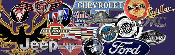 American car spares brand collage