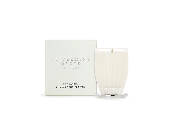Lily & Lotus Flower Small Candle
