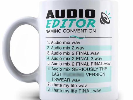Audio Editor Naming Convention