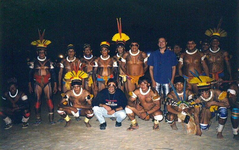 Carlos Malta & Defra with Yawalapiti Tribe