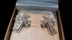 Custom Made Cross Earrings