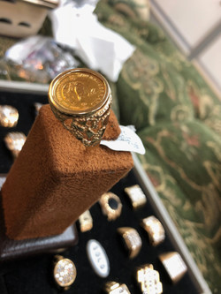 Gold Coin Ring 2