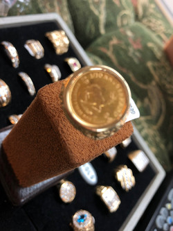 Gold Coin Ring 1