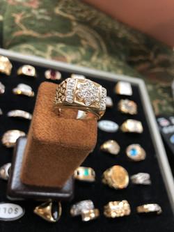 10 CTW diamond ring 1