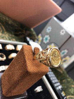 Gold Coin Ring 3