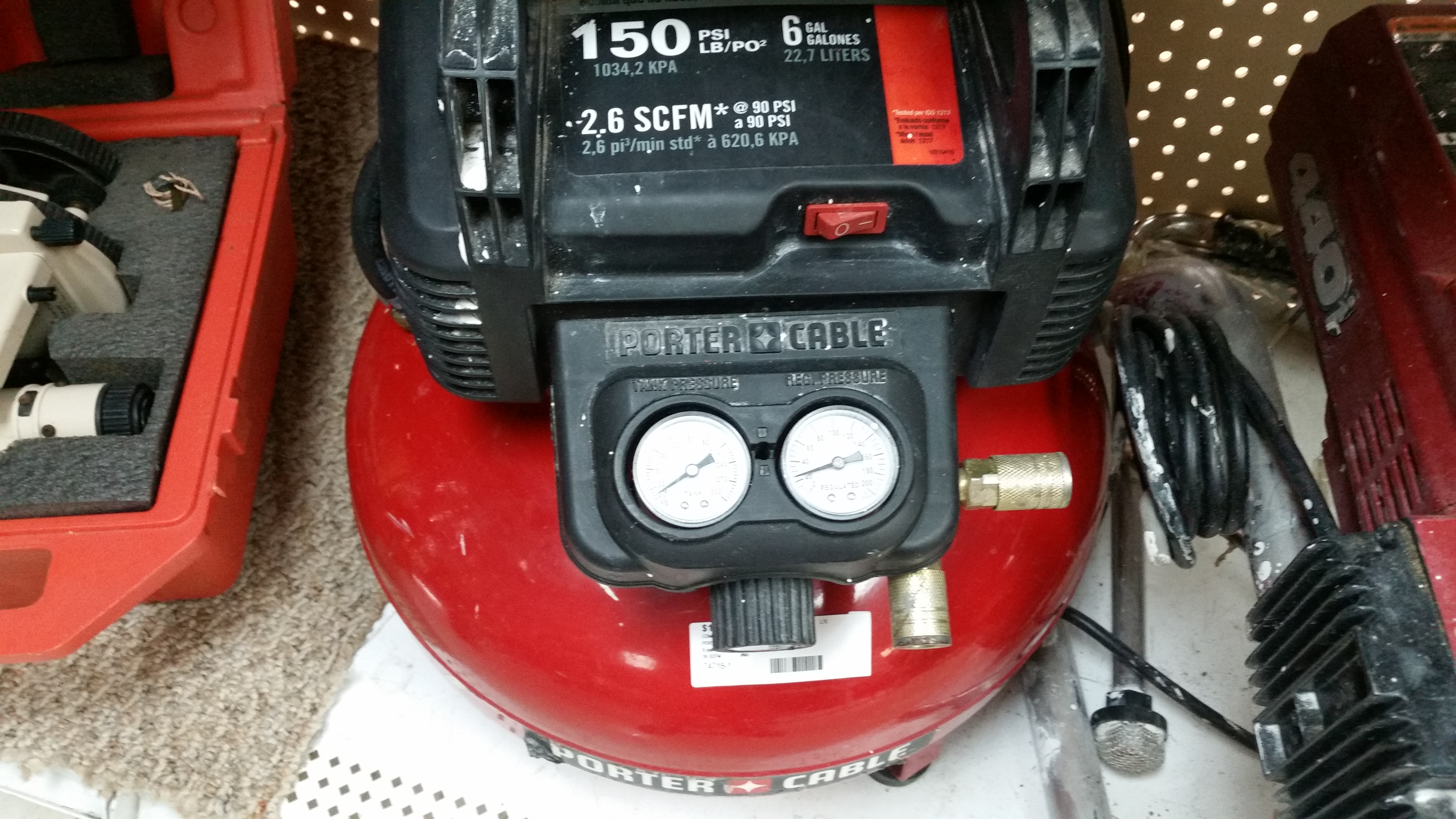 Porter Cable 6 GAL 2.6 150 psi Compr