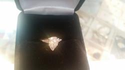 1.5 CTW Pear Shaped Diamond Ring