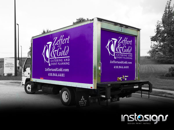 Full box truck wrap by Instasigns of Westminster, MD