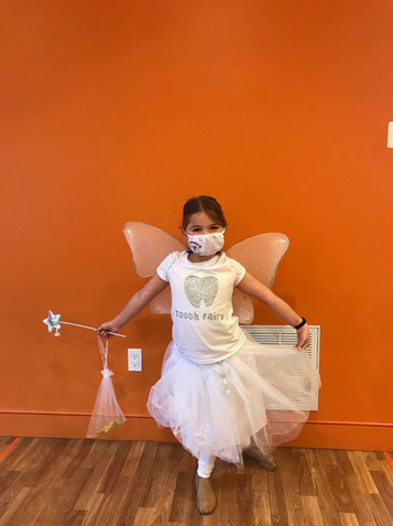 A vist from a very sparkly Tooth fairy!