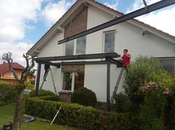 Aufbau Stahlbalkon