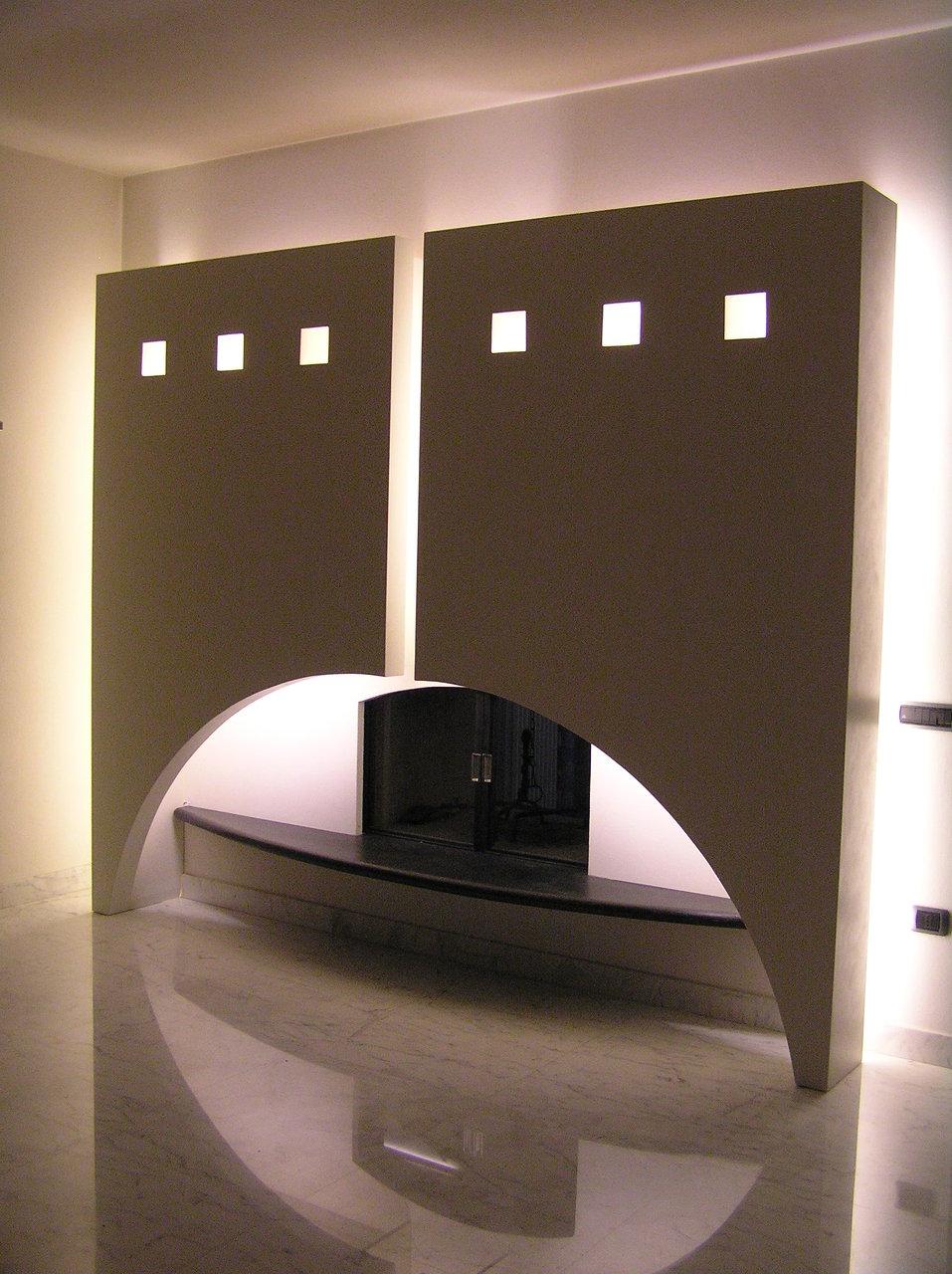 Arredamento villetta - camino sala